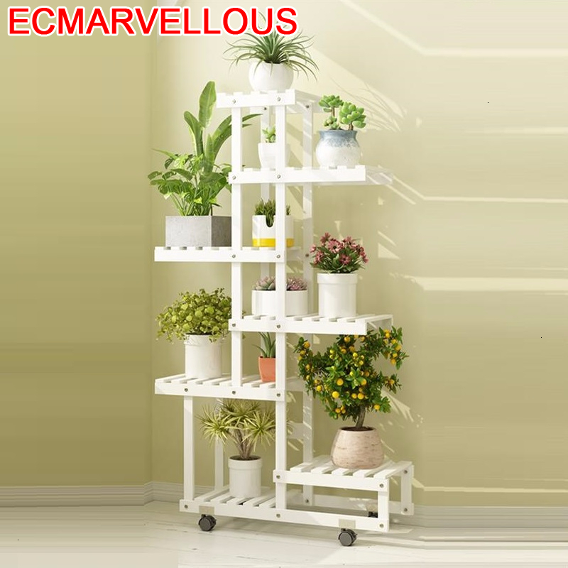 Pot Estante Flores Saksi Standi Plantenrekken Estanteria Para Plantas Balcony Flower Shelf Stojak Na Kwiaty Rack Plant Stand