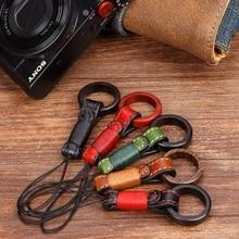 اليدوية الأصلي خشبية جلدية كاميرا البنصر الأشرطة الهاتف اليد الحبل لسوني RX100II M2/M3 كانون G7X/G7X2 فوجي X100