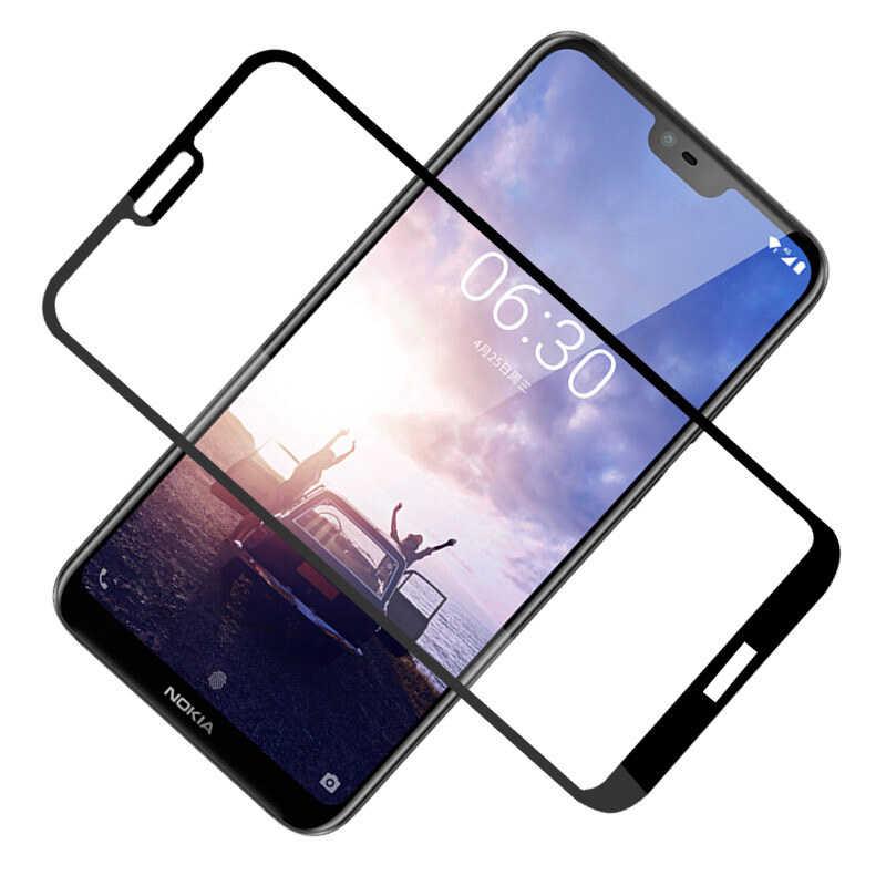 9D Toughed szkło hartowane dla Nokia 8 6 7 Plus klej osłona ekranu dla Nokia X6 6.1 Plus 8.1 szkło ochronne folia do telefonu