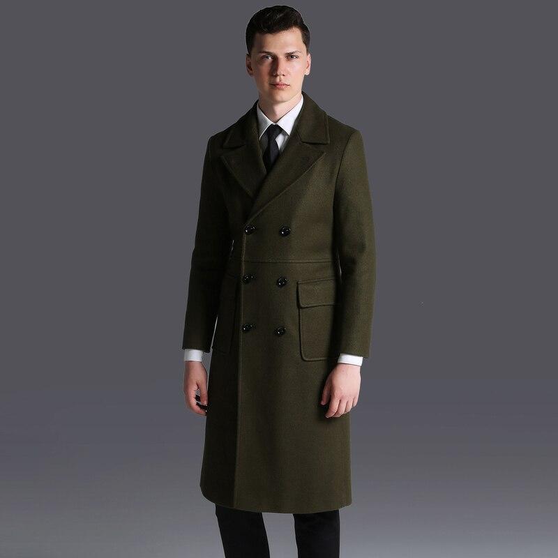 Coat Woolen Long Men Plus Size 6xl Winter Jacket Men Wool Overcoat Male Coats Grey Mens Clothing Abrigo Hombre KJ253 S S