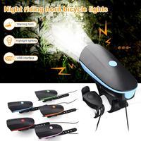 2 IN 1 LED Fahrrad Licht mit Elektrische Glocke trembler summer horn schalter Radfahren Fahrrad Lampe Batterie Gebaut-in USB Lade