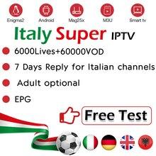 Италия IPTV подписка для Италии немецкий Великобритания Албания Европа Italia для взрослых Live IPTV m3u Enigma2 Smart IPTV Android BOX stb VLC