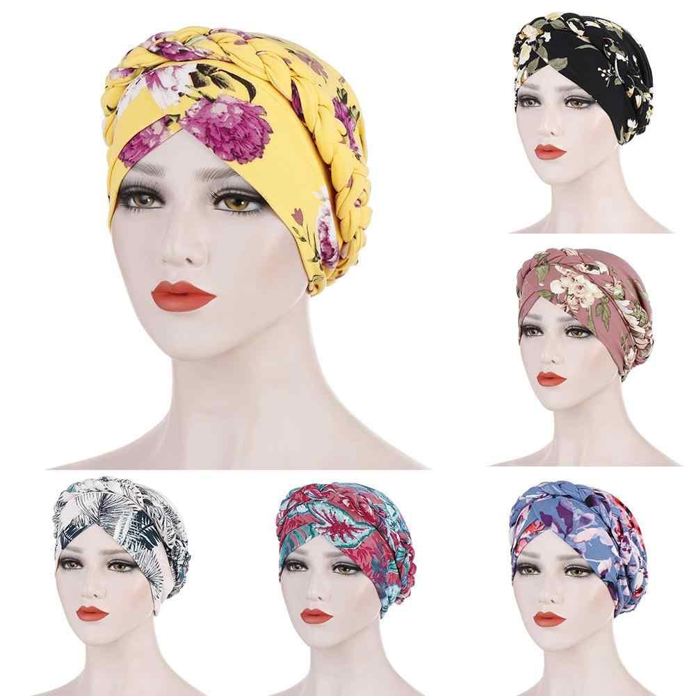 Fashion Women Braided Cap Wrap Headwear African Style Muslim Hijab Turban Hats