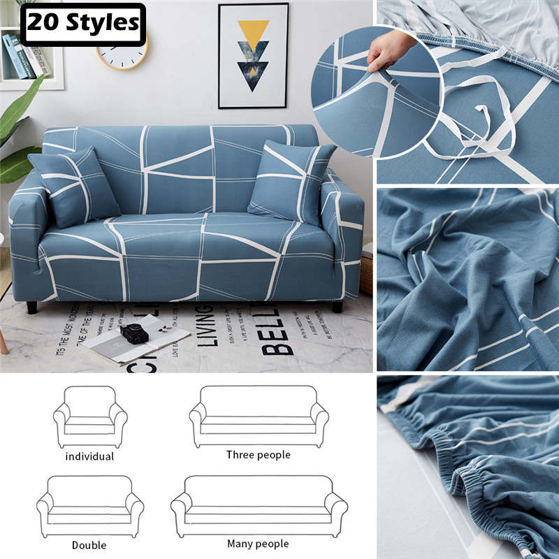 1/2/3/4 Urijk Elastic Sofa Cover It Needs Order 2 Pieces Covers For L-shape Corner Sectional Plaid Sofa Cover Seater Living Room