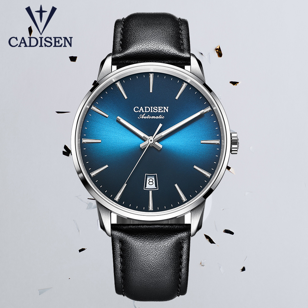 CADISEN 2020 New Men's Watches Top Brand Luxury Watch Mechanical Automatic Watch Men Business Watches NH35A Relogio Masculino