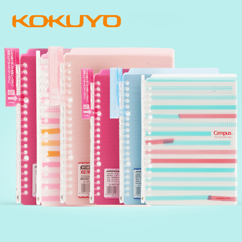 Japan KOKUYO Loose-leaf Smartring Ultra-thin B5 Binder Bend Foldable A5 Notebook Translucent Student Coil Stationery