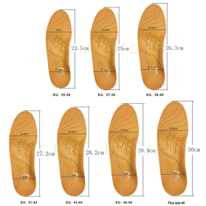 Image 5 - KOTLIKOFF High quality Leather orthotics Insole for Flat Foot Arch Support 25mm orthopedic Silicone Insoles for men and women