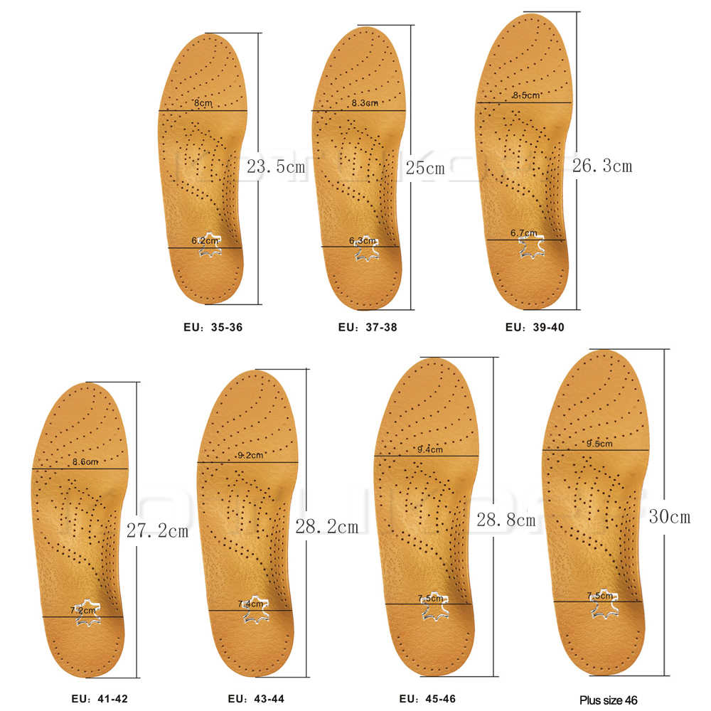 Kotlikoff Hoge Kwaliteit Lederen Orthesen Binnenzool Voor Platte Voetboog Ondersteuning 25 Mm Orthopedische Siliconen Inlegzolen Voor Mannen En Vrouwen