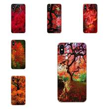 Color Tree Maple Leaves Flip Soft Covers Cases For Sony Xperia Z Z1 Z2 Z3 Z4 Z5 compact Mini M2 M4 M5 T3 E3 E5 XA XA1 XZ Premium(China)