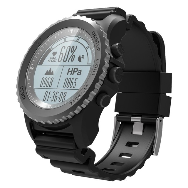Stepfly S968 wasserdichte Intelligente Uhr Herz Rate Barometer Thermometer Bluetooth GPS sport Smartwatch für Android IOS