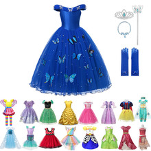 Girl Cinderella princess Dress For Girl Jessie Cosplay Sets Snow White Role Playing Outfit Kids Sleeping Beauty Party Costumes