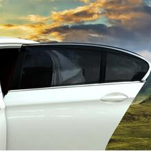 2pcs 90x40cm Car Window Shade UV Protection Screen Mesh Curtain Rear Side Window Curtain Sunshade Cover 2pcs car window sunshade aluminum shrinkable curtain car side window uv protection 50s l auto rear windshield sun block