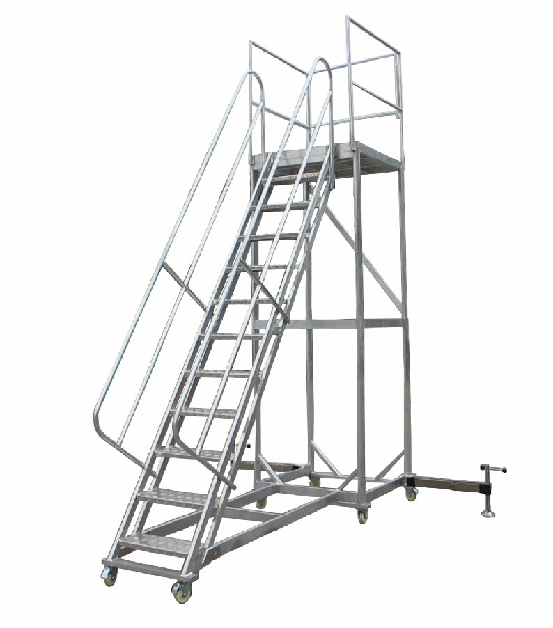 6 Stairs Pack, Rolling Work Platform / 1x1m Arieal Platform / 3m Height Ladder, Customized High Available