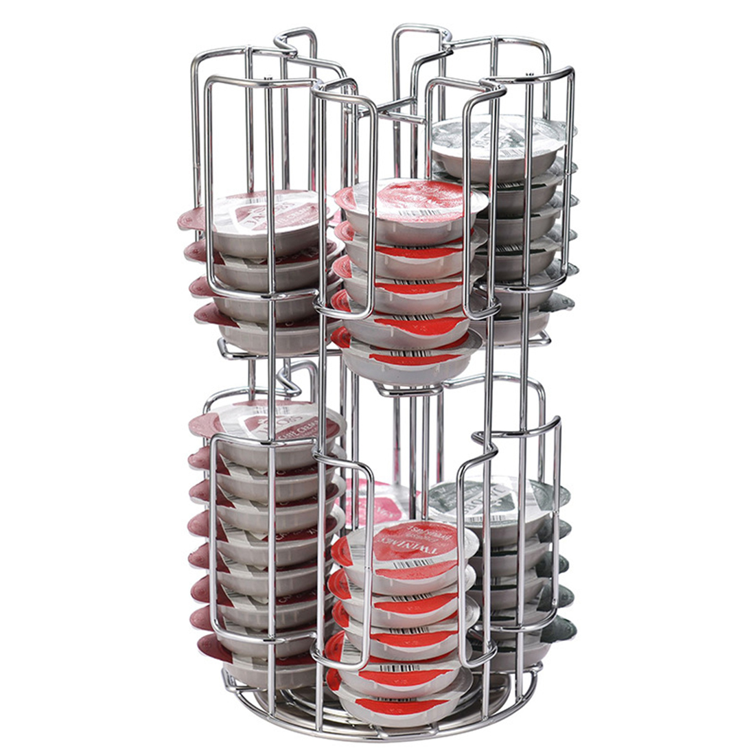 2020 New Simple Style Rotating Capsule Coffee Pods Holder Storage Rack For 64 Tassimo Capsules