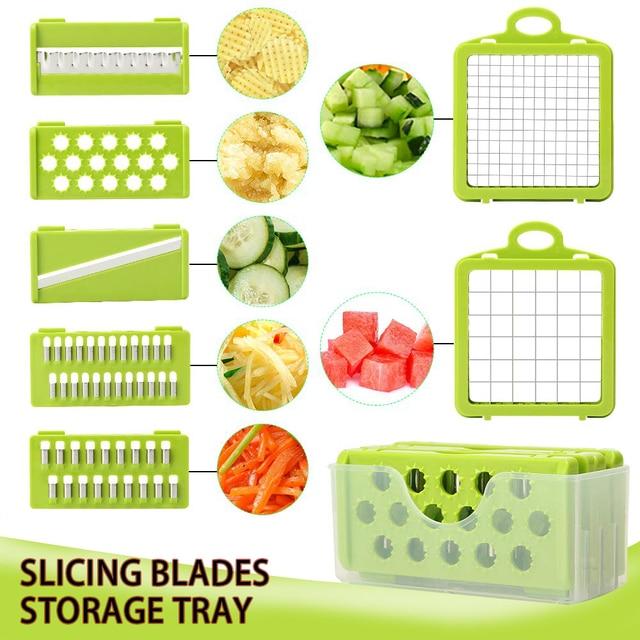 vegetable cutter multifunctional Mandoline Slicer Fruit  Potato Peeler Carrot Grater Kitchen accessories basket vegetable slicer 1