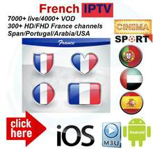 IPTV english Espagne IPTV US IPTV IPTV portugais IPTV arabe Comprend 7000 LIVE et 4000 VOD Support de football pour adultes M3U(China)