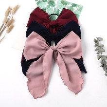 1pc Wild Big Large Fashion Satin Women Girls Hair Band Trendy Hairpin Casual Hair Clip Cute Ribbon Bow Ladies(China)