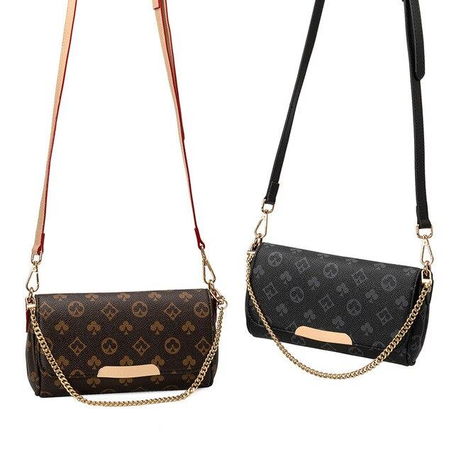 2020 louis Women Shoulder Bag with Chain Print Bag luxury Designer Crossbody Bags Luxury Brand Purses and Handbags high Quality 3