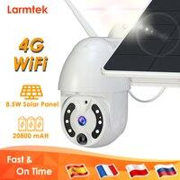 4G SIM Card telecamera di videosorveglianza WiFi 20800mAh batteria telecamera IP solare telecamera di sicurezza domestica esterna rilevazione di movimento CCTV