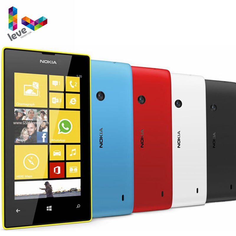 "Nokia Lumia 520 Original Mobile Phone Dual Core 3G WIFI GPS 4.0"" 5MP 8GB Nokia 520 Refurbished Windows Unlocked Cell Phone"