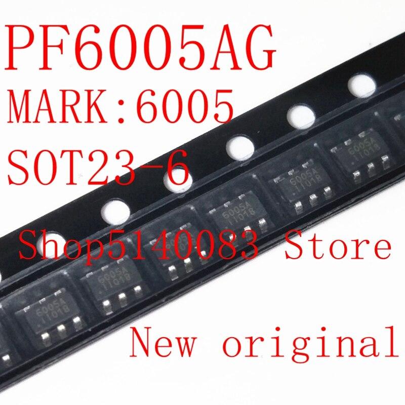 5PCS-50PCS PF6005AG SOT23-6 PF6005A SOT23 PF6005 6005AG 6005 Code 6005A Power Management Chip New And Original