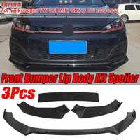 Car Front Bumper Splitter Lip Diffuser Spoiler Cover For Volkswagen For VW For Golf MK7 MK7.5 GTI R GTD 2014 2017 Glossy Black