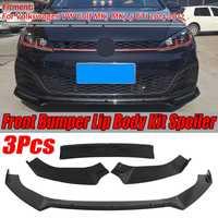 Car Front Bumper Splitter Lip Diffuser Spoiler Cover For Volkswagen For VW For Golf MK7 MK7.5 GTI R GTD 2014 2017 Glossy Black