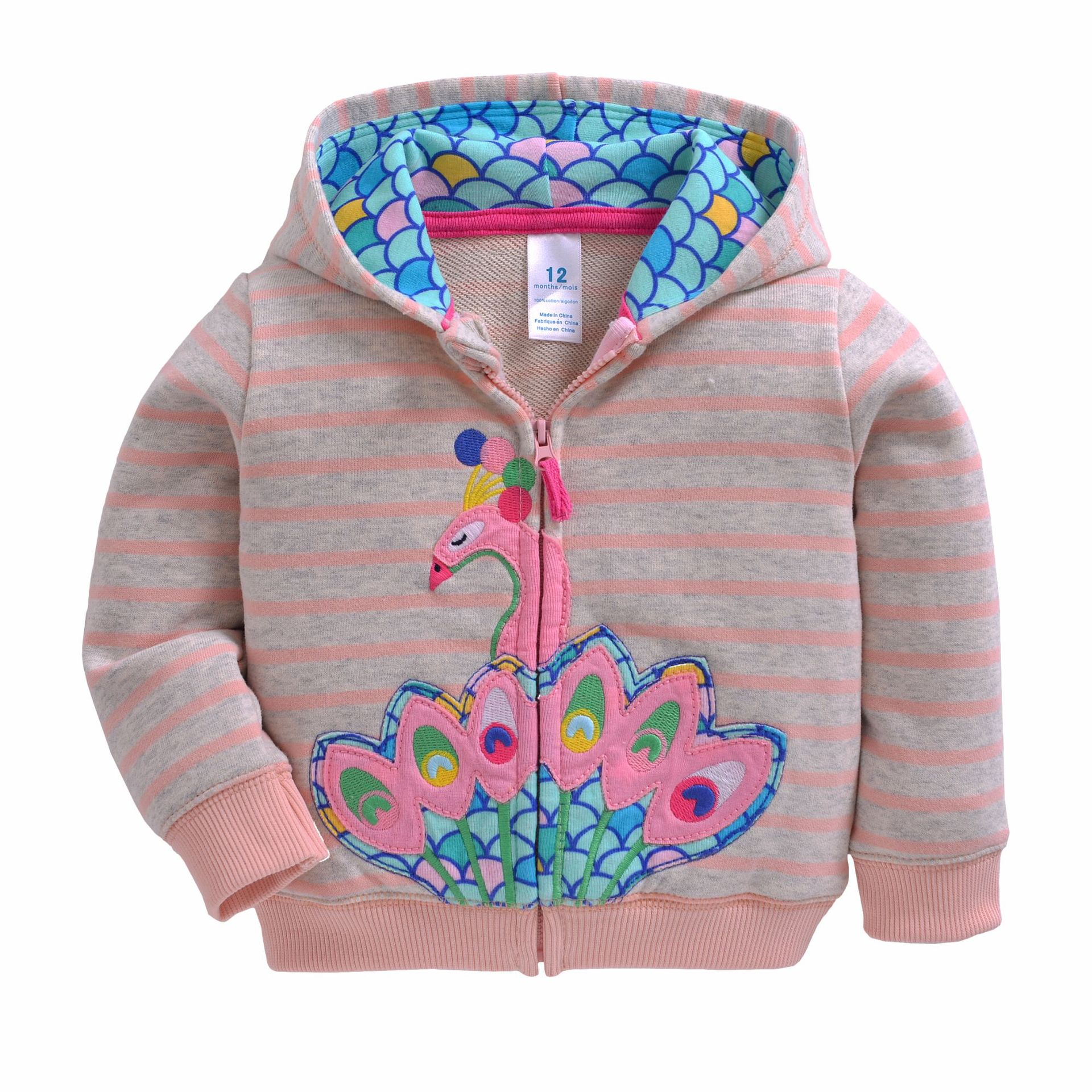 2019 Baby Boys Girls Hooded Sweatshirts Cotton Cartoon Tops Truck Flower Whale Out Wear Kids Clothes For 9m-3years