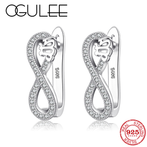 925 Sterling Silver crystal cl