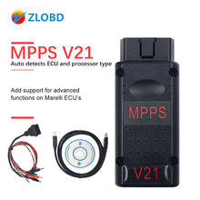 MPPS V21 ECU Chip Tuning  Interface  MPPS V16/V18/V21 For EDC15 EDC16 EDC17 CHECKSUM MPPS OBD2 Car Diagnostic Cable