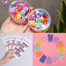 YYOUFU 3 Styles New Cute Metal and Plastic Hair Clips Candy Colored Girls Fashion BB Clip Headdress Girl Accessories