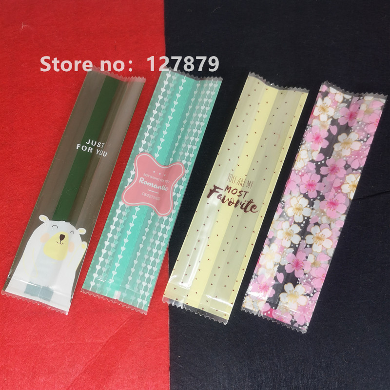 50 шт., пластиковые пакеты для упаковки леденцов, 4 х15 см
