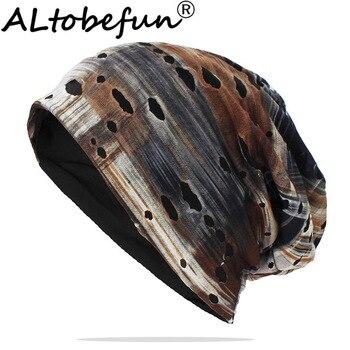 ALTOBEFUN Brand Autumn Hats For Women Adult Men Unisex Thin Hat Skullies And Beanies Winter Teenager Hip Hop Cap AHT157 - discount item  25% OFF Hats & Caps