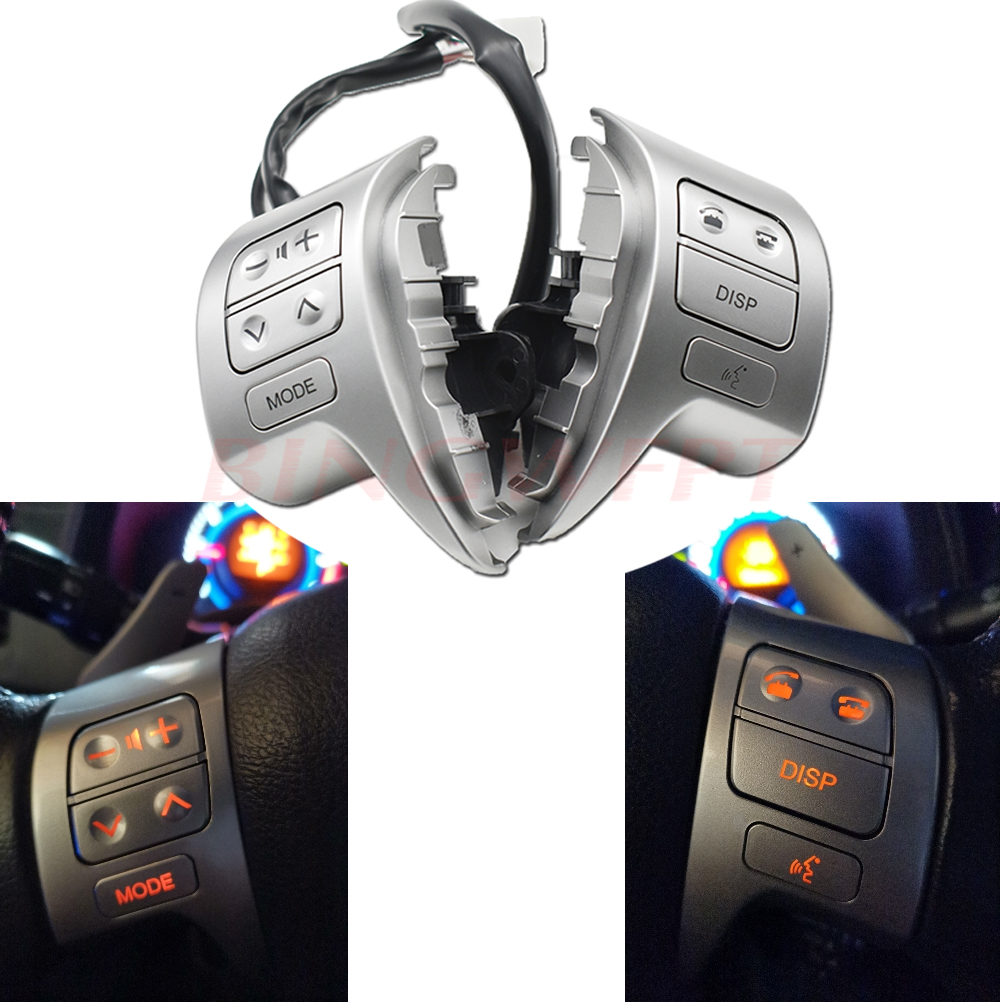 For Toyota Corolla 2007-2016 Combinatio Switch Multifunction Steering Wheel Audio Button OEM#84250-02110 84250-02200
