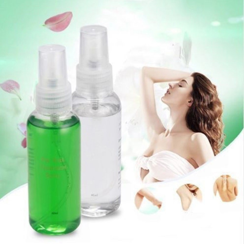 60ml Health Smooth Body Hair Removal Spray Pre After Wax Treatment Repair Liquid Hair Removal Waxing Sprayer image