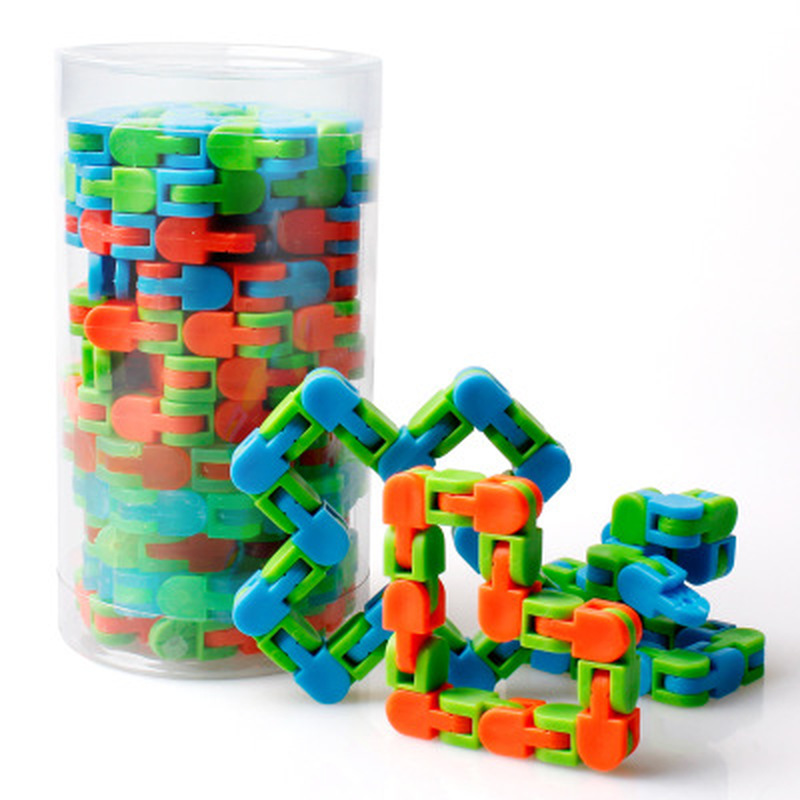 Sensory Toy Snap Autism Snake-Puzzles Wacky Tracks Click Fidget Kids Multicolor Classic img1