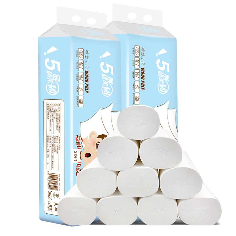 In Stocks! 12 Rolls Toilet Paper Tissue Towel Roll 12 Pack 5Ply Food Grade Dinner Table Napkins Paper White Home Bath Roll Paper