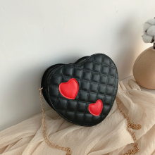 Heart-shaped Luxury Shoulder Bag Small Female Messenger Ladies Famous Brand Handbag 2018 Red Black