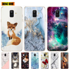 soft Silicone Case For Samsung Galaxy A6 2018 Dual SIM SM A600 A600F Soft Tpu Back Cover For Samsung A6 Plus 2018 A605 A605F(China)