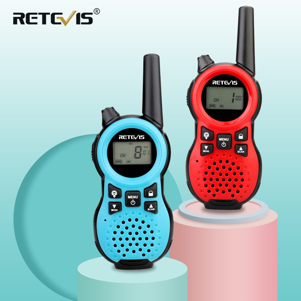 Retevis RT638/RT38 PMR 446 Two Way Radio 2pcs PMR VOX Flashlight USB Charging Walkie Talkie Christmas Present Mini Walkie