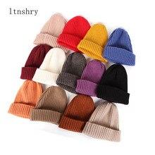 2020 yeni bayan bere şapka sıcak sonbahar kadınlar yün örgü bere şapka bere şapka manşet bere izle kap kızlar için bahar kafatası şapkalar kadın