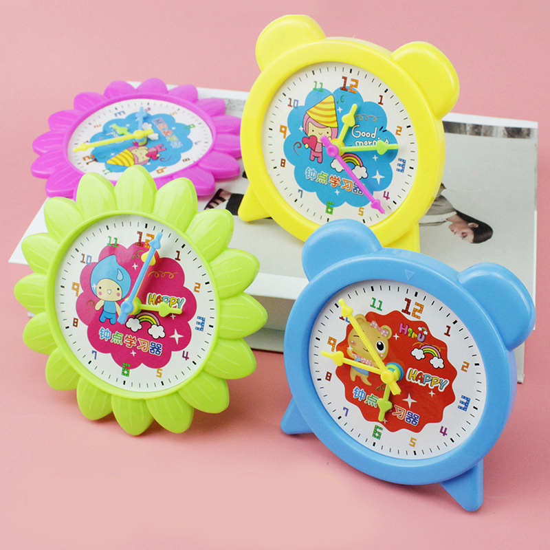 Good Quality Montessori Student Learning Clock Time Teacher Gear Clock 4 Inch 12/24 Hour Children's Educational Toys Baby Gift