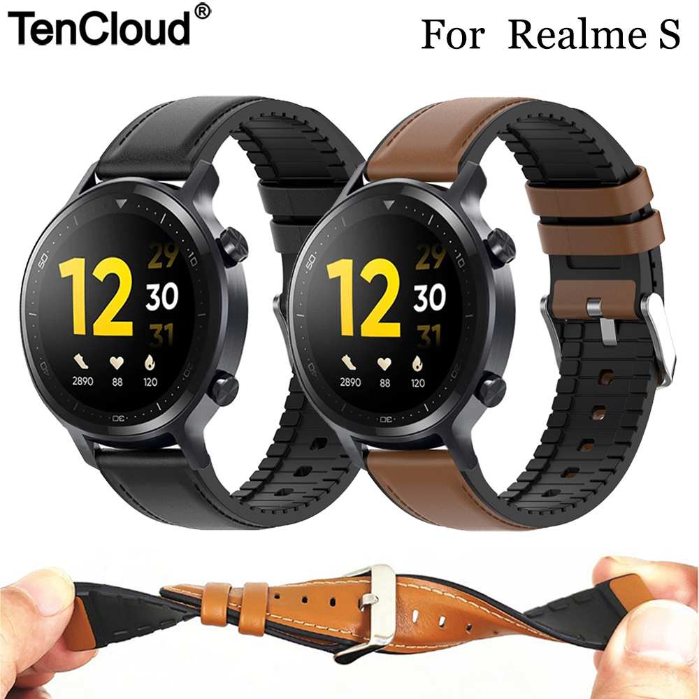 Replacement Strap For Realme Watch S Pro Leather Silicone Band For Realme Watch 2 Pro Band Sport Bracelet High Quality Men Belt