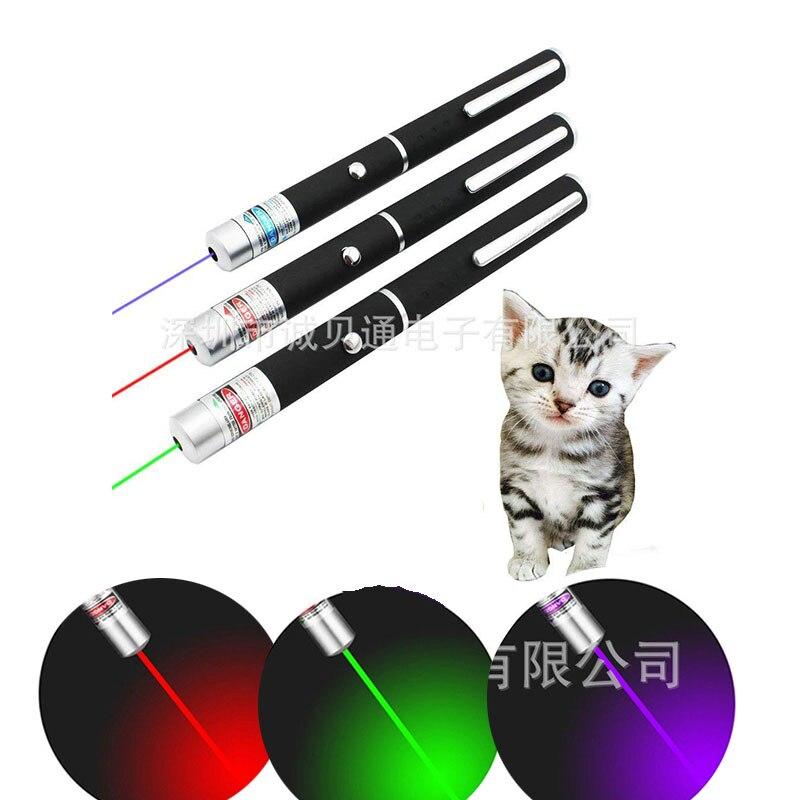 5 мВт лазерная указка светодиодный лазерный кошка игрушка Красный Точечный светильник прицел 530Nm 405Nm 650Nm интерактивный лазерная ручка указк...