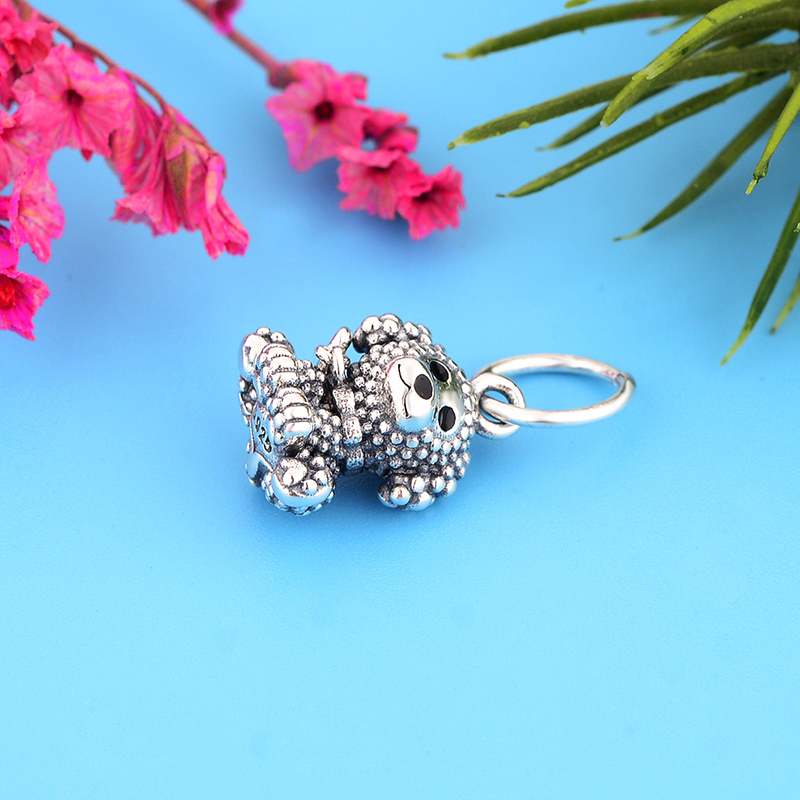 Authentic 925 Sterling Silver Poodle Puppy Dog Dangle Charm Fit Original Pandora Charm Bracelet Jewelry Making Berloque Gifts