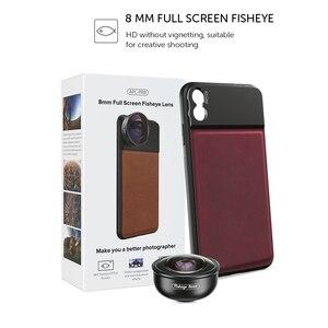 Image 5 - APEXEL HD 8mm 185 degree super fisheye lens 4K professional mobile Phone camera lens for iPhone7 8 xs maxhuawei Xiaomi cellphone