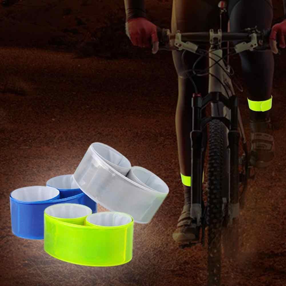 1 pcサイクリング反射ストリップ夜ランニング釣り警告自転車安全自転車バインドパンツ脚ストラップ反射テープ卸売