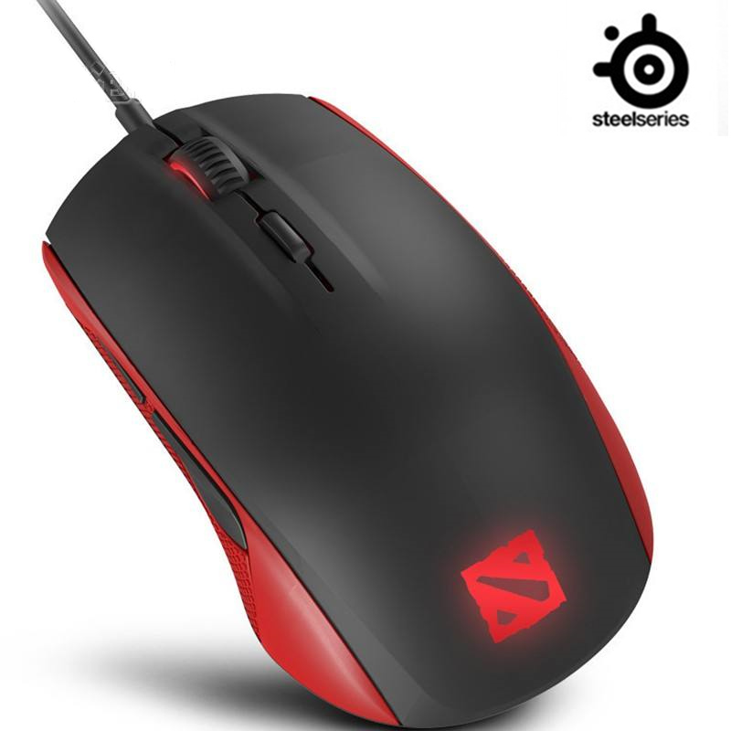 New SteelSeries Rival 100 DOTA 2 Gaming Mouse Mice USB Wired Optical 4000DPI Mouse With Prism RGB Illumination For LOL CS
