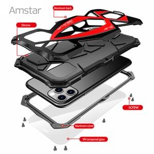 Image 4 - Amstar 360 pełna ochronna obudowa pancerza dla iPhone 11 Pro Max metalowa rama silikonowa, odporna na wstrząsy pokrywy skrzynka dla iPhone X XS Max XR