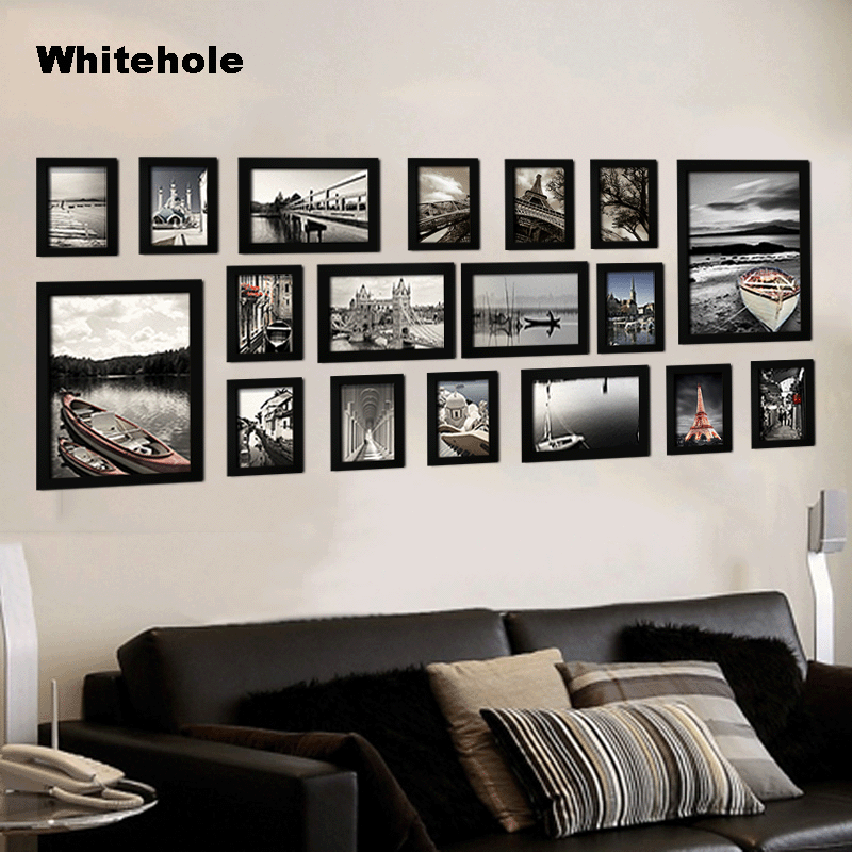 18Pcs/Set Picture Frame For Wall Hanging Photo Frame Photo Wall Poster Wood Frames For Pictures Home Decor